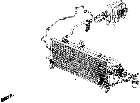 1990 prelude 2.0SI 2 DOOR 4AT A/C KIT diagram