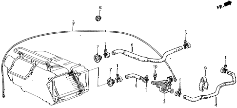 1989 accord DX 2 DOOR 5MT WATER VALVE diagram