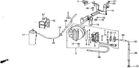 1988 accord LXI 2 DOOR 5MT AUTO CRUISE diagram