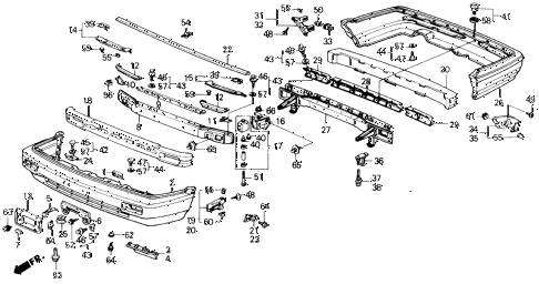 1989 accord DX 2 DOOR 5MT BUMPER diagram
