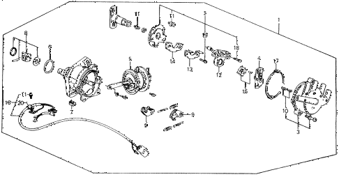 1989 accord DX 2 DOOR 5MT DISTRIBUTOR (HITACHI) diagram