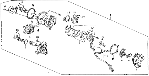 1989 accord LXI 2 DOOR 5MT DISTRIBUTOR (PGM-FI) (TEC) diagram