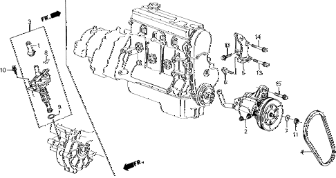 1988 accord LXI 2 DOOR 5MT P.S. PUMP - SPEED SENSOR diagram