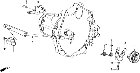 1989 accord LXI 2 DOOR 5MT MT CLUTCH RELEASE diagram