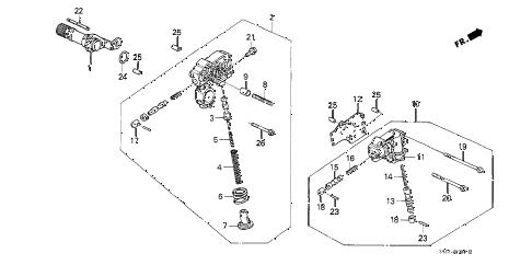 1989 crx DX 2 DOOR 4AT AT REGULATOR - LOCK-UP VALVE diagram