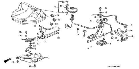 1990 crx HF 2 DOOR 5MT FUEL PUMP - TWO-WAY VALVE diagram