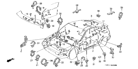 1989 crx DX 2 DOOR 5MT WIRE HARNESS diagram