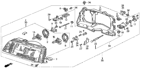 1989 crx DX 2 DOOR 5MT HEADLIGHT diagram