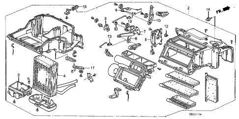 1989 crx HF 2 DOOR 5MT HEATER UNIT diagram