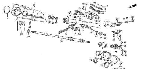 1991 crx SI 2 DOOR 5MT STEERING COLUMN (2) diagram