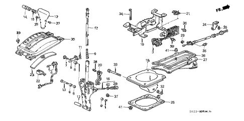 1988 crx DX 2 DOOR 4AT SELECT LEVER (1) diagram