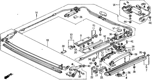 1991 crx SI 2 DOOR 5MT SLIDING ROOF (2) diagram