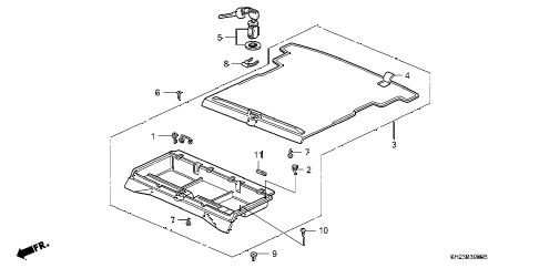 1989 crx HF 2 DOOR 5MT PERSONAL TRUNK diagram