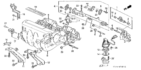 1989 crx HF 2 DOOR 5MT INTAKE MANIFOLD (2) diagram