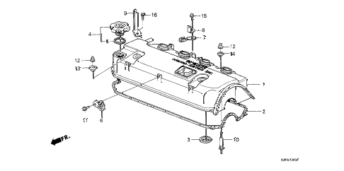 1989 crx SI 2 DOOR 5MT CYLINDER HEAD COVER diagram