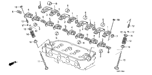 1988 crx SI 2 DOOR 5MT VALVE - ROCKER ARM diagram