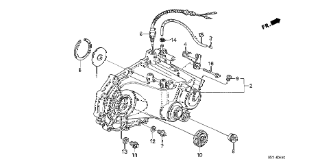 1989 crx SI 2 DOOR 5MT MT TRANSMISSION HOUSING diagram
