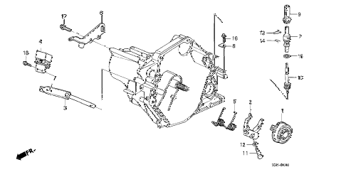 1988 crx SI 2 DOOR 5MT MT CLUTCH RELEASE diagram
