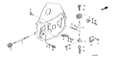 1991 crx SI 2 DOOR 5MT MT SHIFT ROD - SHIFT HOLDER diagram