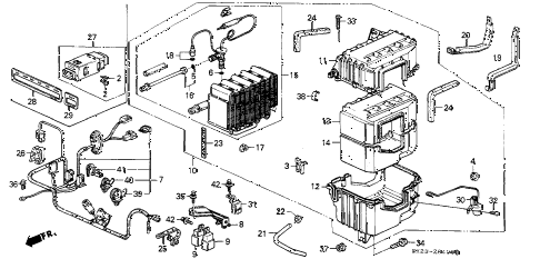 1990 crx HF 2 DOOR 5MT A/C UNIT diagram