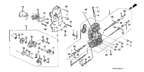 1990 civic DX 3 DOOR 4AT AT MAIN VALVE BODY diagram