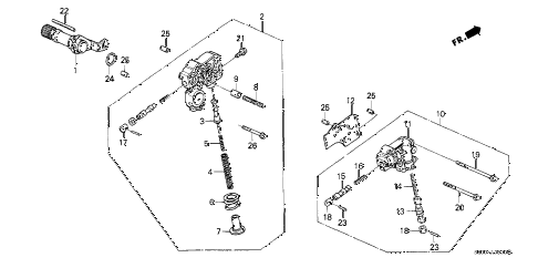 1990 civic DX 3 DOOR 4AT AT REGULATOR - LOCK-UP VALVE diagram