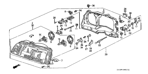 1990 civic DX 3 DOOR 5MT HEADLIGHT diagram