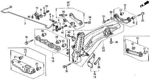 1988 civic STD 3 DOOR 4MT REAR LOWER ARM diagram