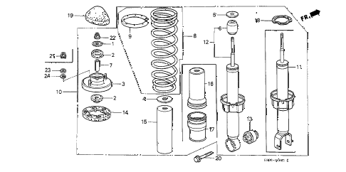 1988 civic STD 3 DOOR 4MT REAR SHOCK ABSORBER diagram