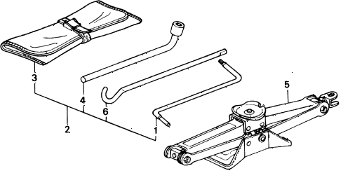1990 civic STD 3 DOOR 4MT TOOLS - JACK diagram