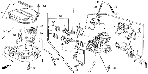 1989 civic STD 3 DOOR 4MT THROTTLE BODY (1) diagram