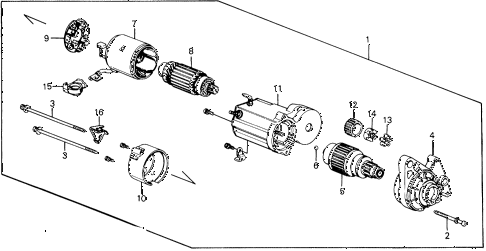1989 civic STD 3 DOOR 4MT STARTER MOTOR (DENSO) (1) diagram