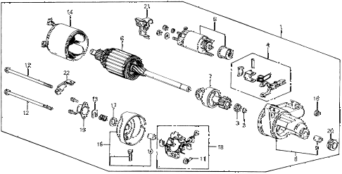 1990 civic DX 3 DOOR 5MT STARTER MOTOR (DENSO) (2) diagram