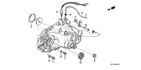 1988 civic STD 3 DOOR 4MT MT TRANSMISSION HOUSING diagram