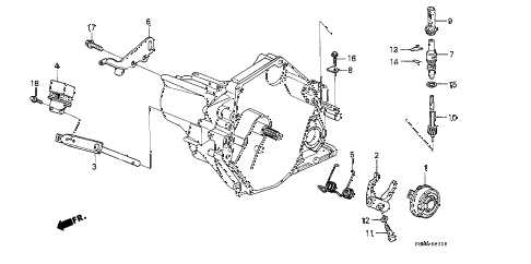 1989 civic DX 3 DOOR 5MT MT CLUTCH RELEASE diagram