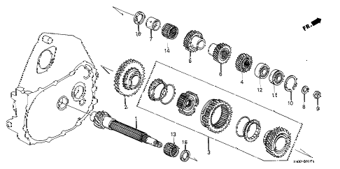 1990 civic DX 3 DOOR 5MT 5MT COUNTERSHAFT diagram