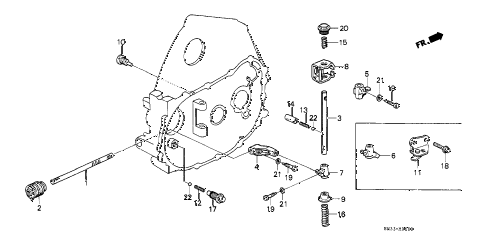 1990 civic SI 3 DOOR 5MT MT SHIFT ROD - SHIFT HOLDER diagram