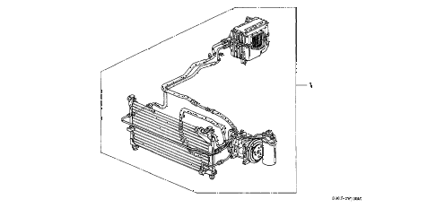1991 civic DX 3 DOOR 5MT KIT diagram