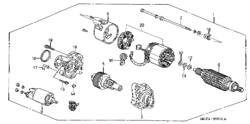 1991 civic EX 4 DOOR 5MT STARTER MOTOR (MITSUBA) (2) diagram