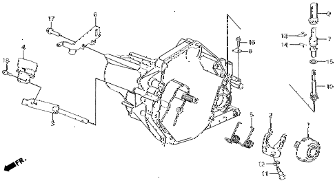 1991 civic LX 4 DOOR 5MT MT CLUTCH RELEASE diagram