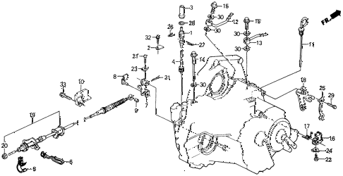 1990 civic DX 5 DOOR 4AT AT CONTROL WIRE diagram
