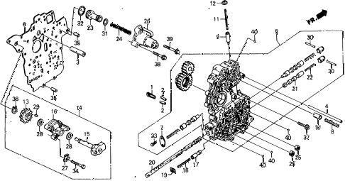 1989 civic 4WD(1600) 5 DOOR 4AT AT MAIN VALVE BODY diagram
