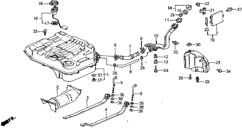 1989 civic **(WAGOVAN) 5 DOOR 5MT FUEL TANK diagram