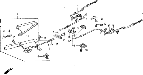 1988 civic **(WAGOVAN) 5 DOOR 5MT PARKING BRAKE diagram