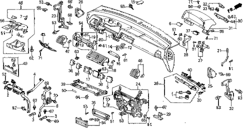 1989 civic **(WAGOVAN) 5 DOOR 5MT INSTRUMENT PANEL diagram