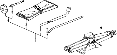 1989 civic **(WAGOVAN) 5 DOOR 5MT TOOLS - JACK diagram