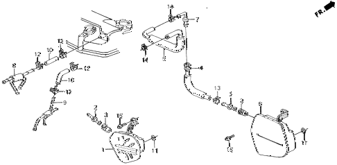 1989 civic 4WD(1600) 5 DOOR 5MT BREATHER CHAMBER diagram