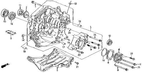 1989 civic 4WD(1600) 5 DOOR 5MT MT CLUTCH - TRANSFER CASE 4WD diagram