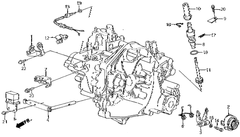 1988 civic 4WD(1600) 5 DOOR 5MT MT CLUTCH RELEASE 4WD diagram