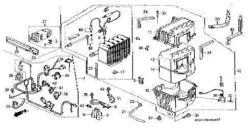 1991 civic DX 5 DOOR 5MT A/C UNIT diagram